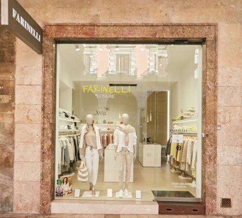 Tienda Leisure, la moda casual de calidad. Farinelli moda de lujo en Palma de Mayorca, Jaime III, 3. Moda Casual