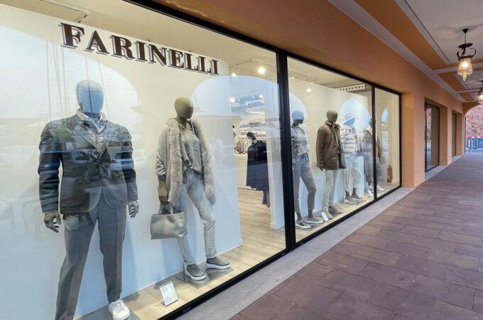 Tienda Farinelli moda de lujo en Palma de Mayorca, Puerto Portals, Local 74